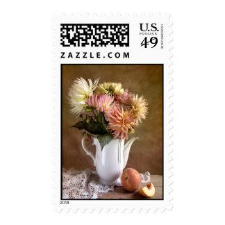 Flores de la dalia timbres postales