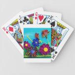 Flores de la diversión barajas de cartas