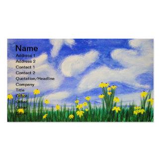 Flores de la ensenada del golfo en un campo brilla plantilla de tarjeta de negocio