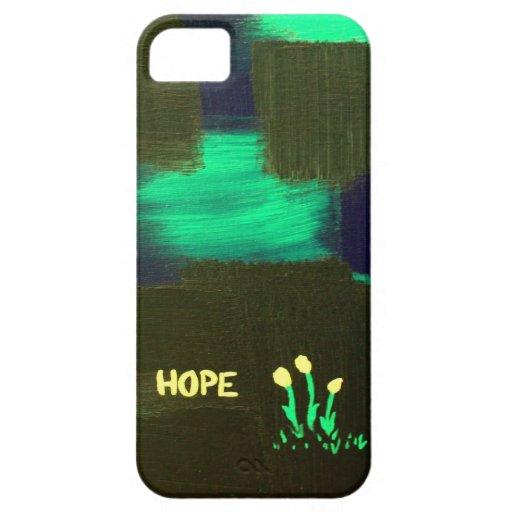 "Flores de la ""esperanza"" de la oscuridad iPhone 5 Case-Mate protector"