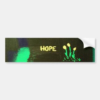 """Flores de la """"esperanza"""" de la oscuridad pegatina para auto"""