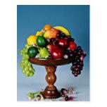 Flores de la exhibición de la fruta tarjetas postales
