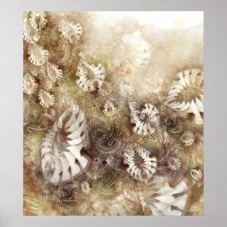 Flores de la fantasía póster