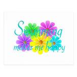 Flores de la felicidad de la natación postal