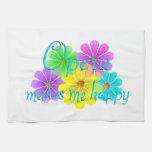 Flores de la felicidad de la ópera toallas de cocina