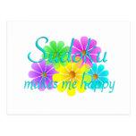 Flores de la felicidad de Sudoku Postales