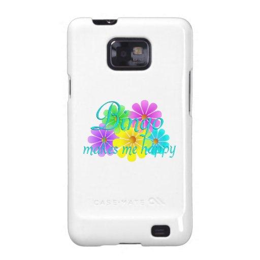 Flores de la felicidad del bingo samsung galaxy s2 fundas