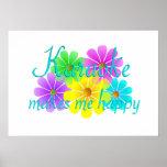 Flores de la felicidad del Karaoke Poster