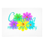 Flores de la felicidad que acampan comunicados