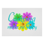 Flores de la felicidad que acampan poster