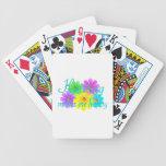 Flores de la felicidad que hacen punto baraja de cartas