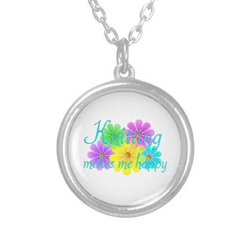 Flores de la felicidad que hacen punto collar personalizado
