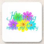 Flores de la felicidad que hacen punto posavaso