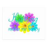 Flores de la felicidad que hacen punto postal
