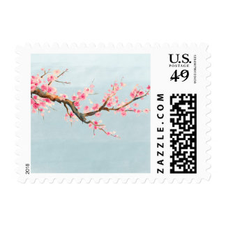 Flores de la flor de cerezo sello