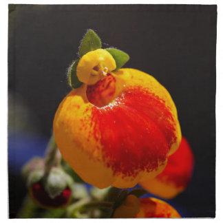 Flores de la flor del monedero de una señora servilletas de papel