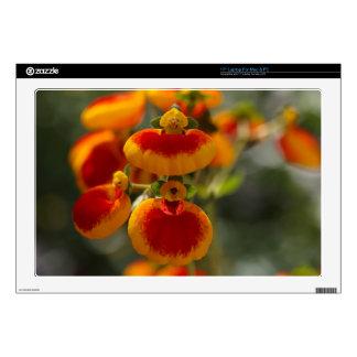 Flores de la flor del monedero de una señora skins para 43,2cm portátil