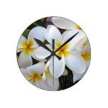Flores de la floración reloj de pared