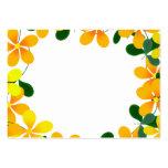 Flores de la frontera anaranjada y amarilla plantilla de tarjeta personal