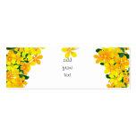 Flores de la frontera anaranjada y amarilla plantilla de tarjeta de visita