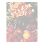 Flores de la fruta y de las flores membretes personalizados
