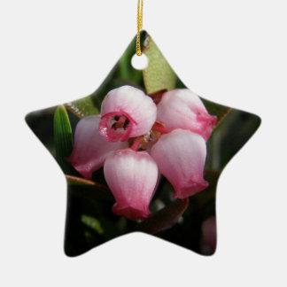 Flores de la gayuba ornamento para arbol de navidad