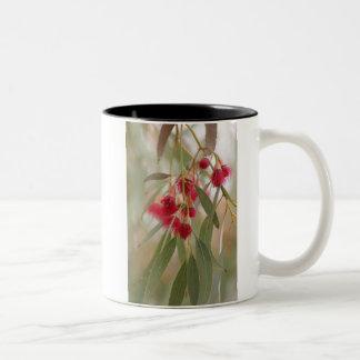 Flores de la goma taza de dos tonos
