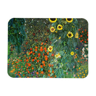 Flores de la granja de Blumengarten Imán Foto Rectangular