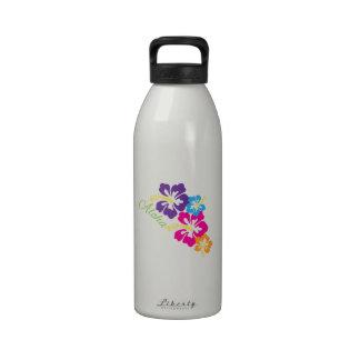 Flores de la hawaiana botella de agua
