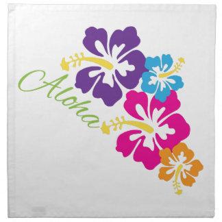 Flores de la hawaiana servilletas