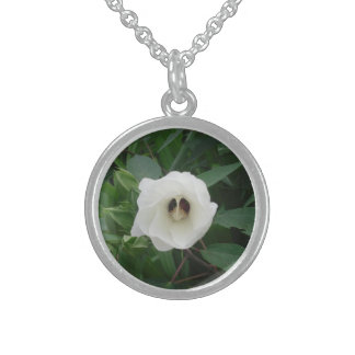 Flores de la herencia collares de plata esterlina