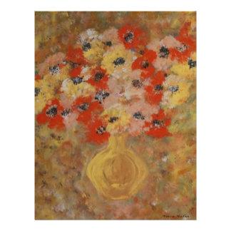 Flores de la intuición membretes personalizados