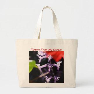 Flores de la lavanda bolsas de mano