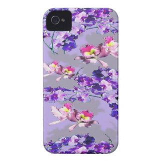 Flores de la lavanda Case-Mate iPhone 4 coberturas