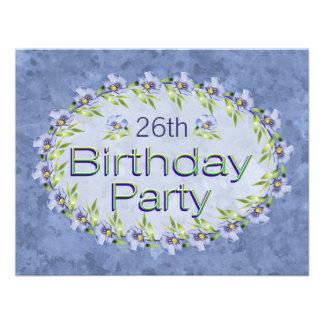 Flores de la lavanda de la edad de las invitacione comunicados personales