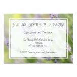 Flores de la lavanda invitación personalizada