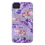 Flores de la lavanda iPhone 4 protectores