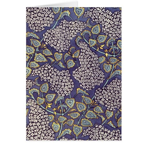 Flores de la lila de Nouveau del arte ' Tarjeta Pequeña