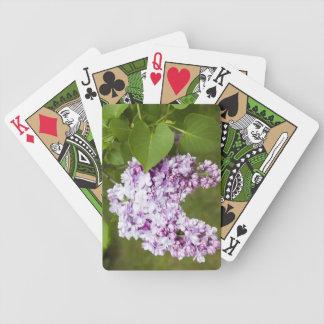 Flores de la lila del amor baraja cartas de poker