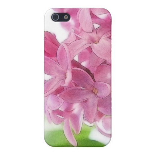 Flores de la lila en la luz del sol de la mañana iPhone 5 protector