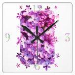 Flores de la lila reloj
