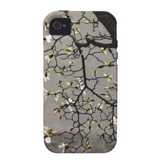 Flores de la magnolia Case-Mate iPhone 4 funda