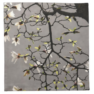 Flores de la magnolia servilleta