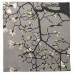 Flores de la magnolia servilleta imprimida