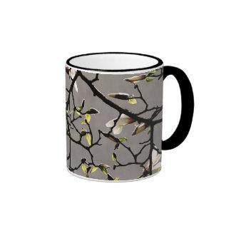 Flores de la magnolia taza de café