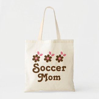 Flores de la mamá del fútbol bolsa tela barata