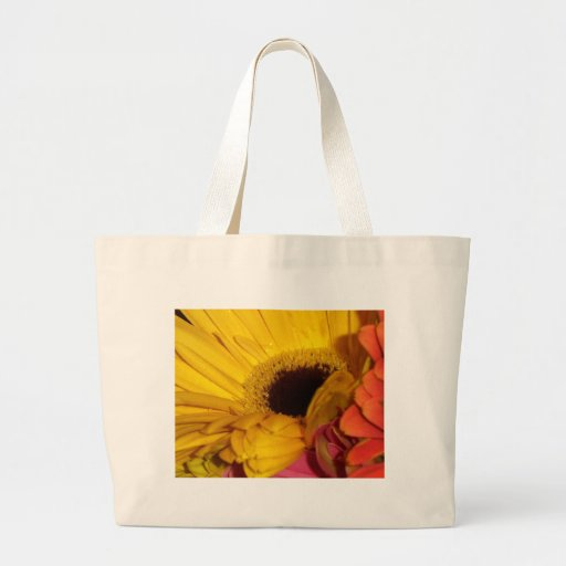 flores de la margarita del gerber bolsa tela grande