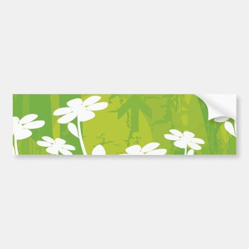 Flores de la margarita pegatina para auto