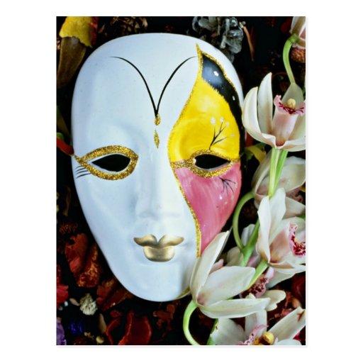 Flores de la máscara postal