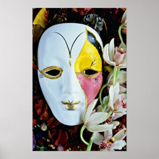 Flores de la máscara póster
